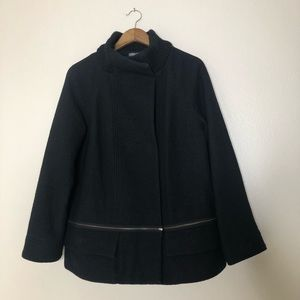 Vince Wool Coat Convertible Length Size Large